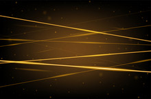 Golden Realistic Laser Beam Background. Laser Rays Iolated On Transparent Background. Modern Style Abstract. Bright Shiny Lasers Pattern. Vector Illustration