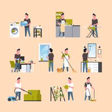Set Men Doing Housework Differ...