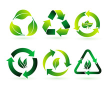 Set Of Recycle, Biodegradable,...