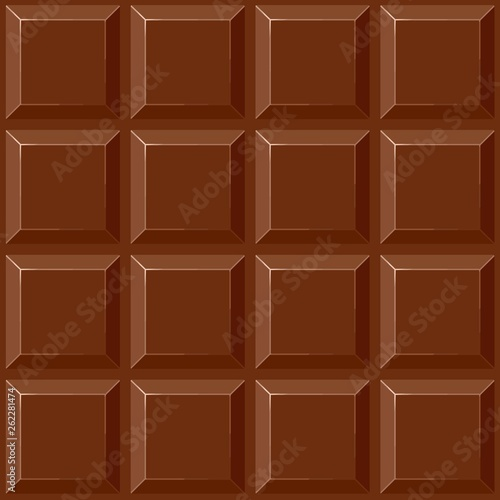 Foto auf AluDibond Ziehen Chocolate Squares Vector Seamless Repeat Pattern