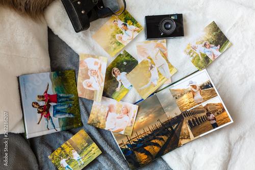 Fotografia, Obraz Luxury white leather wedding photo album and photo book