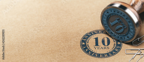 Photo  Tenth Anniversary Horizontal Background, One Year Celebration Card