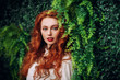 canvas print picture gorgeous redhead girl