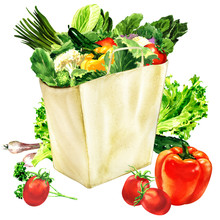 Paper Bag With Organic Healthy...
