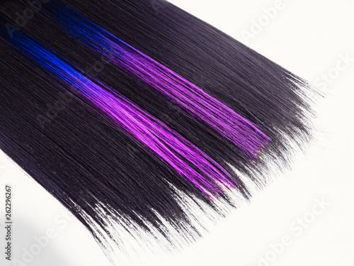 Fotografia  Shiny straight black hair background