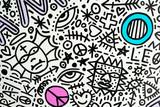 Fototapeta Młodzieżowe - texture background pattern symbols