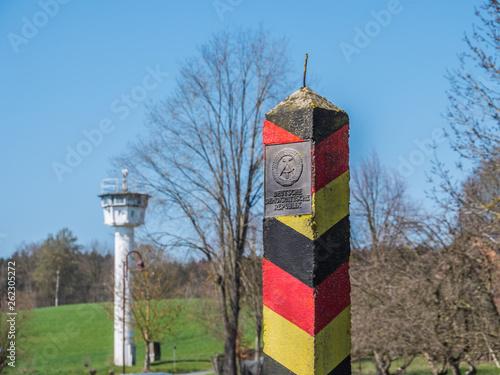 Fotografía  DDR Grenzsäule Innerdeutsche Grenze