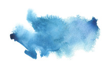 Abstract Blue Watercolor Blot ...