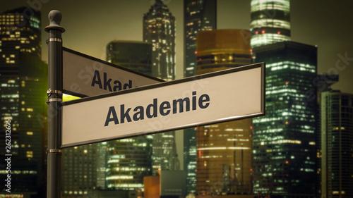 Foto  Schild 373 - Akademie
