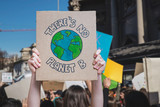 There is no planet b poster claim during a street protest for climate change, fridays for future