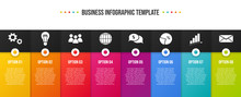 Colorful Infographic With Busi...