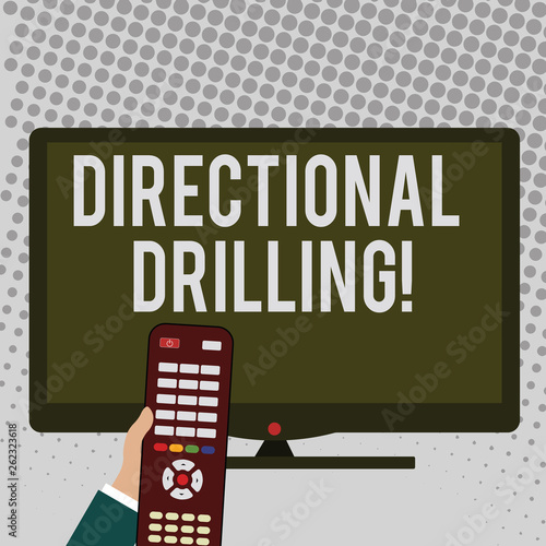 Handwriting text writing Directional Drilling  Conceptual photo