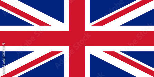Cuadros en Lienzo British flag vector illustration