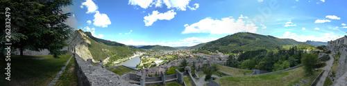 La pose en embrasure Kaki panorama de Sisteron