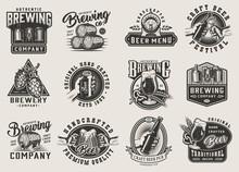 Vintage Brewery Monochrome Emb...