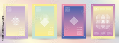 Photo  Futuristic Vector Geometric Cover Design with Gradient and Abstract Lines and Figures for your Business