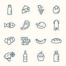 Food Line Icon Set
