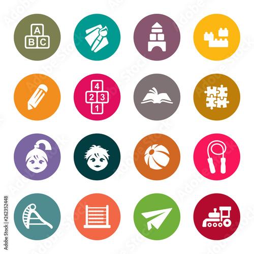 Preschool vector icons