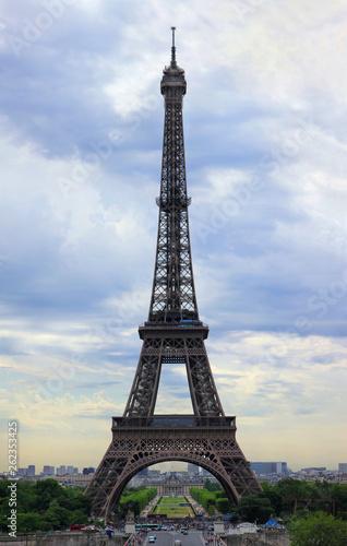 Poster Rouge, noir, blanc Parisserie-Eiffelturm, Plakatgroesse Panorama