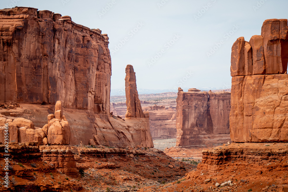 Fototapeta Amazing Scenery at Arches National Park in Utah - travel photography
