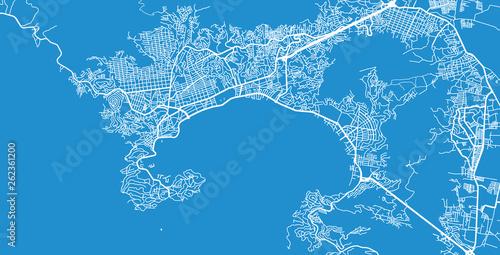 Fotografija  Urban vector city map of Acapulco, Mexico