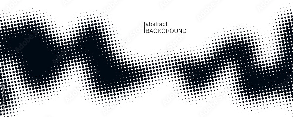 Fototapeta Monochrome printing raster. Dotted illustration. Abstract vector halftone background. Vector illustration. Black and white texture of dots