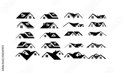 Fotografiet home property logo set package