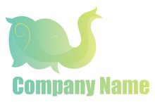 Green Elephant Head Simple Logo Vector Illustration On A White Background