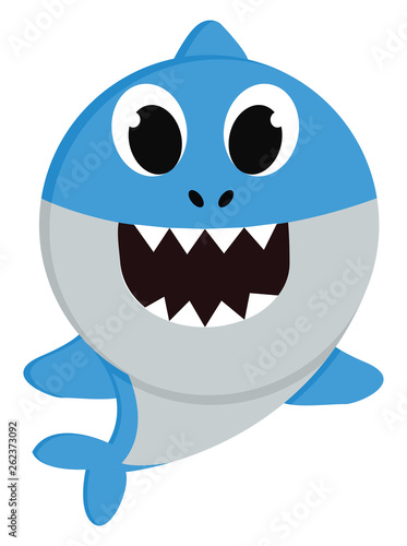 Photographie A blue baby shark vector or color illustration