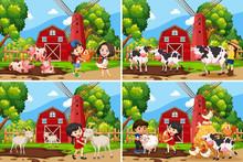 Set Of Rural Landscape