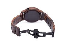 Unisex Wrist Watch Rear View Of The Lock Bracelet, On A White Background.