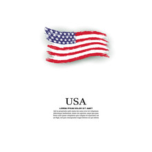 USA Flag In Grunge Style