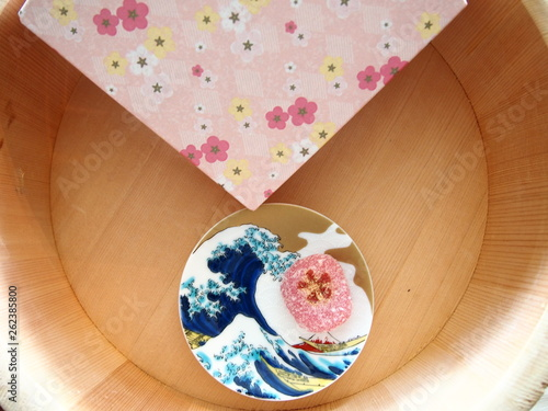 Photo  Japanese sweet and traditional Japanese design