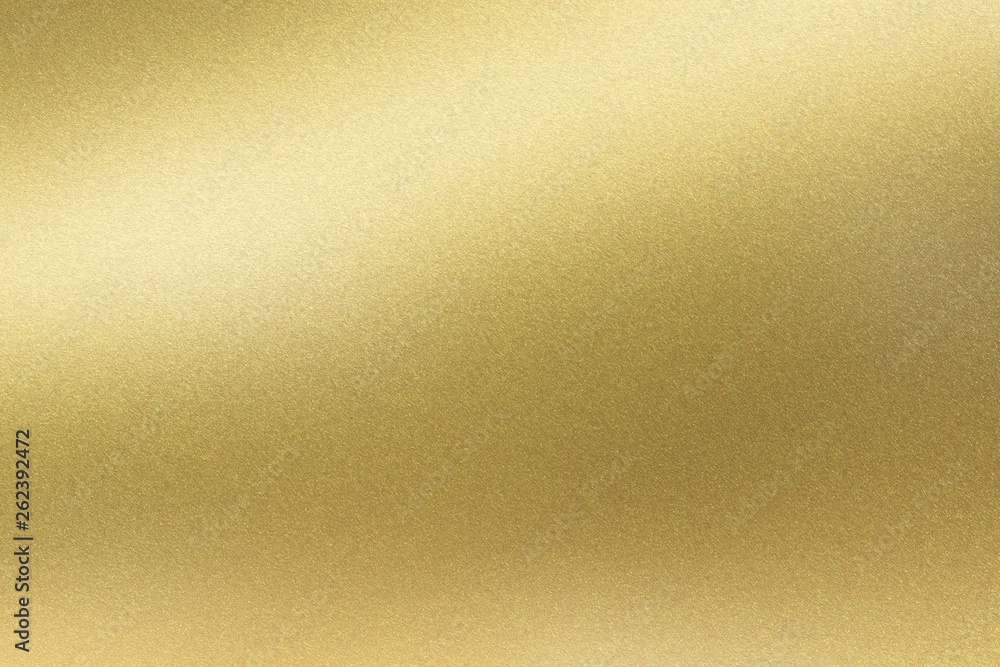 Fototapety, obrazy: Abstract texture background, light shining on golden stainless wall