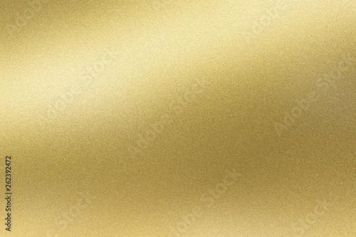 Fototapeta Abstract texture background, light shining on golden stainless wall obraz