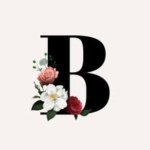Floral Letter B Font