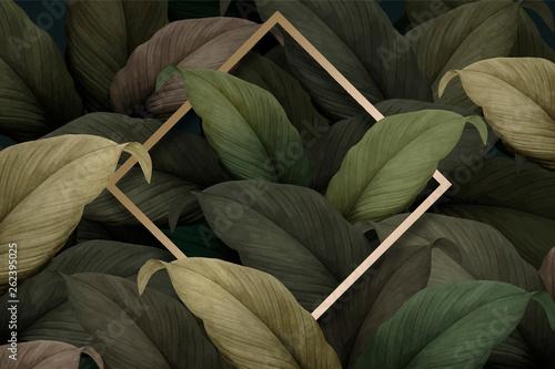 Fotografia Tropical foliage background