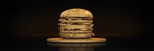 Golden Hamburger. 3d Rendering