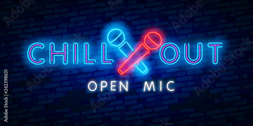 Slika na platnu Chill out, open mic