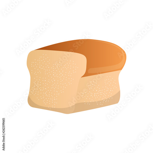 Fotografía Isolated bread loaf image. Vector illustration design