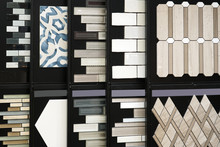 Wall Decoration Pattern Mounted Tile Material Samples In Store