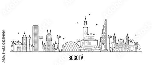 Bogota skyline Distrito Capital Colombia a vector Canvas Print