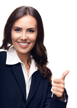 Businesswoman Showing Thumbs U...