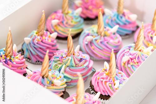 Photo Unicorn cupcakes
