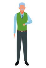 Old Man Avatar Cartoon Character