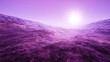 4K Wide Angle Extraterrestrial Landscape 3D Animation