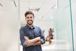 canvas print picture - Junger Mann als selbstbewusster Start-Up Gründer
