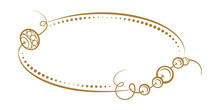 Vector Vintage Horizontal Oval Frame With A Beads Decoration