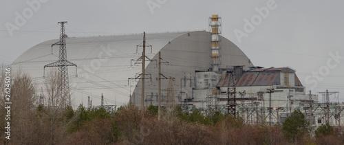Fotografie, Obraz New sarcophagus over the 4th reactor, New Chernobyl Sarcophagus