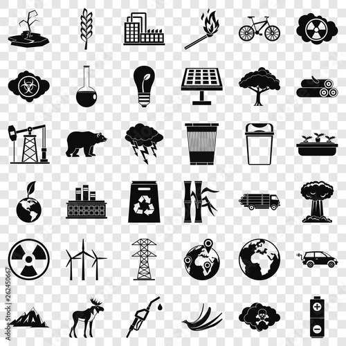 Foto  Environmental icons set